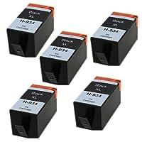 Amsahr H-934XLBK(C2P23AN)-5CT HP 934XL Officejet Pro 6220 Remanufacture Replacement Ink Cartridges Black [並行輸入品]
