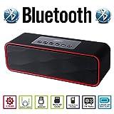 AGM Bluetooth スピーカー HIFI ステレオ YOUTUBE視聴可 低音専用ウーハー装備 迫力サウンド ( FMラジオ ) ( ハンズフリー テレホン ) ( LINE IN ) ( USBメモリー ) ( MICRO SD ) 安心の基本機能一年メーカー保証 日本語説明書付 DY22 (ブラック)