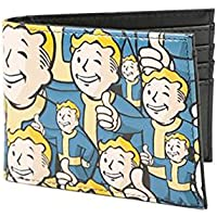 Bethesda Fallout 4 Vault Boy Appliqu ?WithエンボスBi Fold Wallet (コスチュームアクセサリーStacked Up )