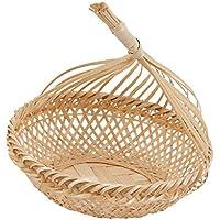 Kesoto 自然 竹 パン バスケット ストレージ フルーツ 野菜 バスケット 全3種選べる    - #1, S