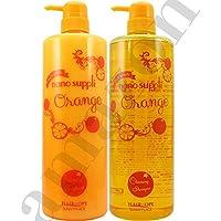 サニープレイス ナノサプリ クレンジングシャンプー&コンディショナー オレンジ 1000mlボトルセット