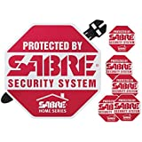 SABRE Home Security Alarm Yard Sign and 5 Window Decal Stickers Crime Deterrent