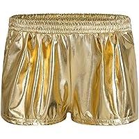 iEFiEL Women's Sport Yoga Dance Hot Pants Shiny Metallic Boxer Short Pants