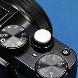 【F-Foto】 ソフトレリーズシャッターボタン フラットタイプ 『各社カメラ対応』 (シルバー)