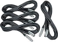 Musician 's Gear lo-zマイクケーブル20' 4-パック ブラック XC-20 4-Pack KIT