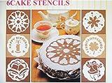 acquasea 樹脂製 ケーキ デコレーション テンプレート ステンシル シート 6枚組み 繰り返し使用可 直径18.5cm