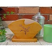 コーヒーフィルターケース 木製 ひのき ナチュラル バーニング 麦の穂 コーヒーペーパーケース 受注製作
