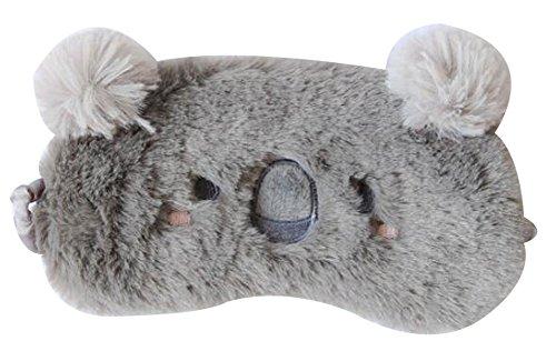 IvyOnly アイマスク アイカバー コアラ 安眠 快眠遮光 旅行職場  おやすみマスク軽量 (コアラ(17x7cm))