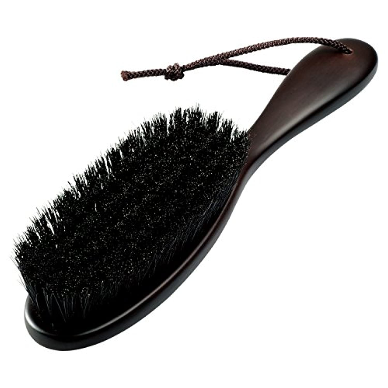 【ナカタハンガー】日本製 洋服ブラシ 天然毛 豚毛 Clothes Brush Pig Hair ブラウン