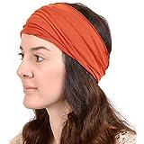 Casualbox Mens Elastic Bandana Womens Headband Japanese Long Hair Dreads Head Wrap Yoga Sports Crossfit