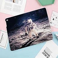 Pad Air 2019 ケース iPad Air3 10.5インチ iPad Pro 10.5(2017)兼用 ケース 極薄 手帳型ケース 2つ折タイプ スタンド機能 オートスリープ機能付き 全面保護型 傷防止2019年発売の10.5インチ iPad 対応月面宇宙飛行士の軌道の背景にコスモス銀河太陽写真