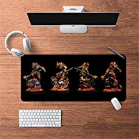 LL-COEUR 油絵 古代のスタイル オリエンタル 大型マウスパッド キーボード ゲーミング オフィス テーブルマット が良い 滑り止めゴム底(26)