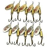 MELIPメタル釣りルアーMinnow Poper釣り餌タックルCrankbait Assorted魚フック10 Pac 6.7 CM 7.3 G ME-1704