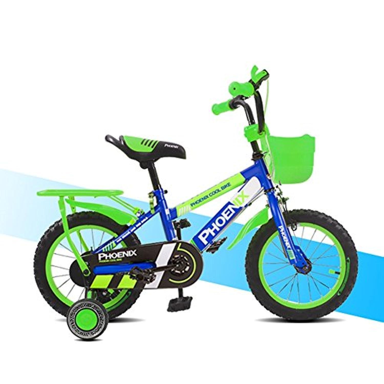 YANFEI 子ども用自転車 12インチの子供の自転車の男の子の子供の自転車の自転車のおもちゃの自転車オレンジのトレーニングホイールのフェンダー 子供用ギフト