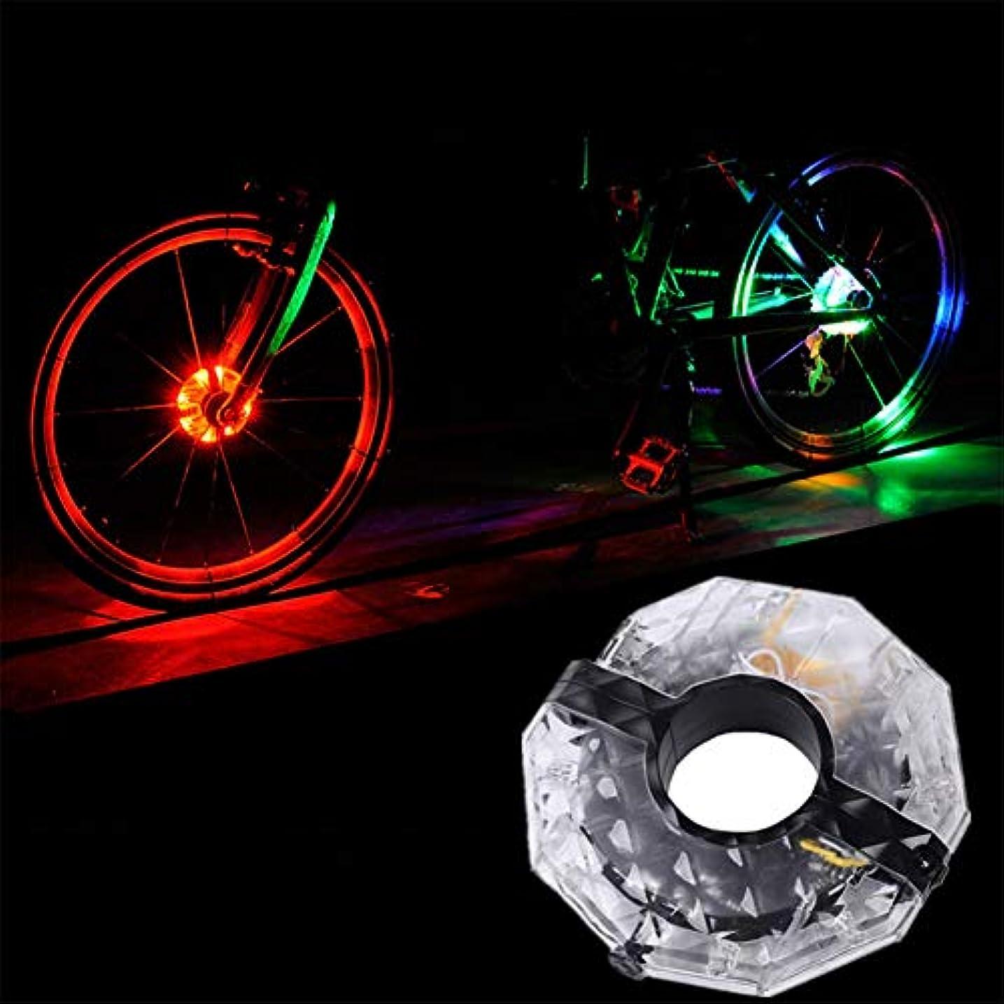 ワット哀れな縁RaiFu 自転車 LED ホイールライト 充電式 サイクリング 簡単取り付け 防水 安全警告ライト 4色 自転車 アクセサリー