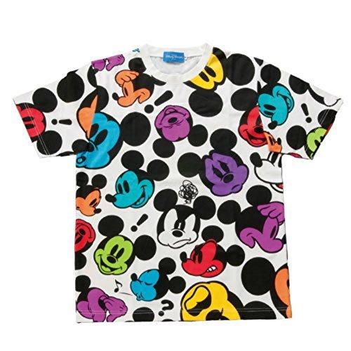 ミッキーマウスフェイス柄Tシャツ【L】ホワイト【東京ディズニーリゾート限定】