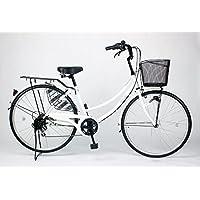 21Technology 26インチ自転車ママチャリ MCA266 オートライト シマノ製6段ギア付き