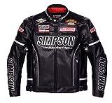シンプソン(SIMPSON) ジャケット プレミアムモデル フェイクレザージャケット ブラック/シルバー LL SJ-6139PRM
