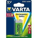 Varta 56722412401 VARTA 9V 200mAh Ni-MH ACCU Ready to Use Rechargeable Batteries