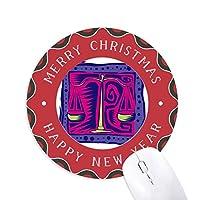 星座はてんびん座mexicon文化の彫刻 円形滑りゴムのクリスマスマウスパッド