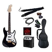 PhotoGenic エレキギター 初心者入門ライトセット ストラトキャスタータイプ STG-200/BK ブラック ゴールドパーツ仕様