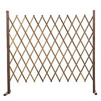 YYFANG 木製フェンスローズプラントクライミングウォール高温炭化耐食性プロセスブロックスペース分割、4サイズ (Color : Brown, Size : 150cm)