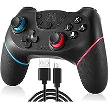 Switch コントローラー 無線 NIJIAKIN Bluetooth 接続 ワイヤレス 任天堂 switch プロコン 対応 デュアルショック【日本語説明書付き】