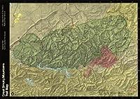 マップポスター–Great Smoky Mountains国立公園北carolinatennessee Trai。。。