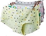 (トンボボ)Tonbobo 無縫製 響きにくい レディース ショーツ パンツ 下着 花柄 棉 コットン(6花柄あり)(2枚セット) (セット1:ひげ&熊)