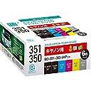 エコリカ リサイクルインクカートリッジ CANON BCI-351 350/6MPリサイクルインク6色セット ECI-C351-6P