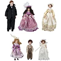 Dollhouse Miniature The Giddens Family with Maid by