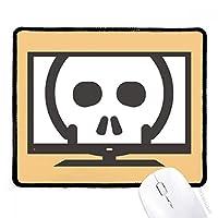 シンプルブラックスケルトンかわいい素敵なオンラインチャット絵文字の発現パターン マウスパッド・ノンスリップゴムパッドのゲーム事務所