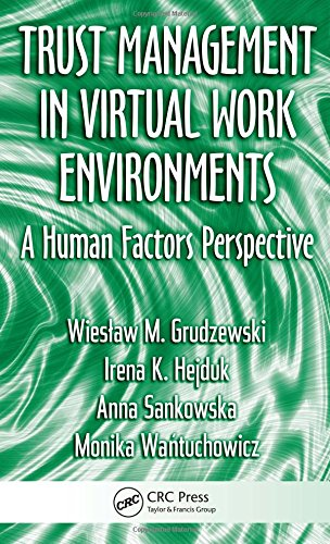 Download Trust Management in Virtual Work Environments: A Human Factors Perspective (Ergonomics Design & Mgmt. Theory & Applications) 1420068903