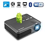 ポータブルHD WiFiビデオゲームプロジェクターLED LCDホームエンターテイメントwith Android 4.4 HDMI USB VGA YPBPR TV for Iphone Ipad Pc Wii For Movie Night ps4ゲームパーティーKTV TV Show