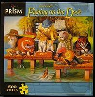 プリズムBryan Moon Cats Fishing On The Dock 500ピースジグソーパズル2007r-37