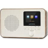 LEMEGA IR1 Portable Internet Radio,FM Digital Radio,WiFi,Bluetooth,Dual Alarms&Clock,Kitchen/Sleep/Snooze Timer,40 Pre-Sets,H