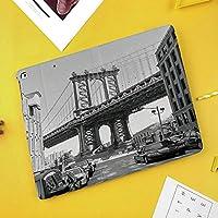iPad Pro 10.5 ケーススタンド機能10.5インチ iPad Pro 保護カバー シンプル 二つ折タイプ 全面保護型 傷つけ防止 iPad Pro10.5手帳型ケース PU New iPad Pro 10.5 Case(iPad Pro 10.5)車でブルックリンニューヨークアメリカランドマークブリッジストリート写真