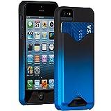 Case-Mate 日本正規品 iPhoneSE / 5s / 5 Barely There ID Case, Matte Royal Blue ベアリーゼア ID ケース, マットロイヤルブルー 【カードホルダー つき】 CM025685