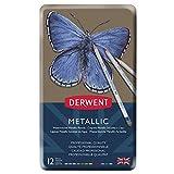 ダーウェント 色鉛筆 メタリックペンシル 12色セット 0700456