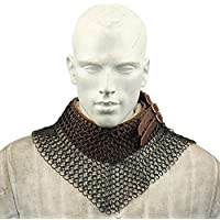 Blackened Chainmailビショップ?S Mantle襟Armor