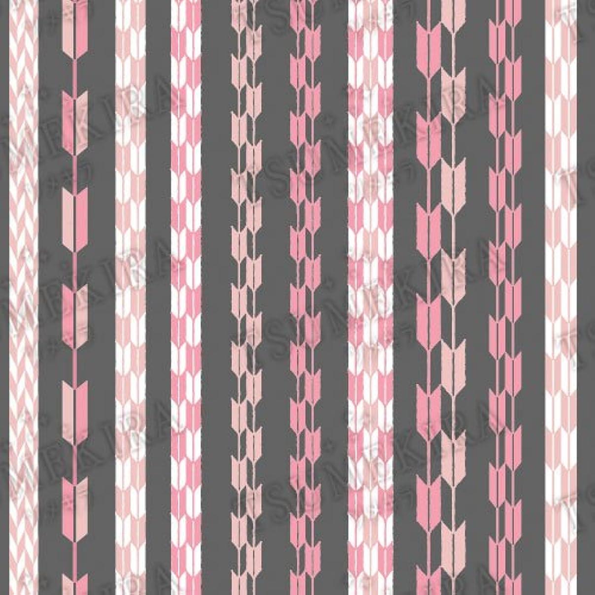 連続的錫せせらぎツメキラ ネイル用シール スタンダードスタイル 矢餅 ピンク