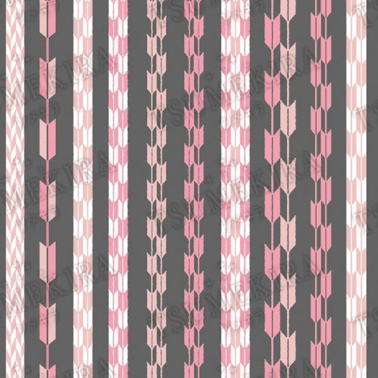 個人的に怒ってアリスツメキラ ネイル用シール スタンダードスタイル 矢餅 ピンク