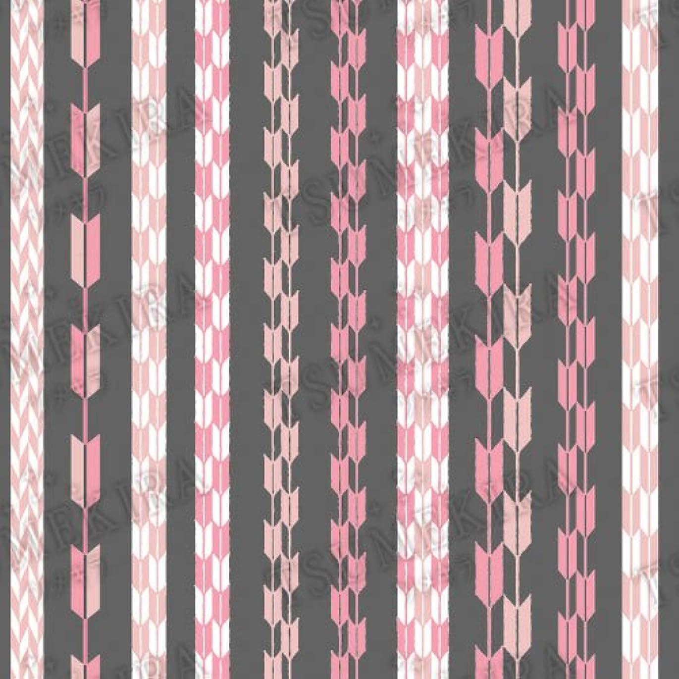 宿泊施設タクシー埋めるツメキラ ネイル用シール スタンダードスタイル 矢餅 ピンク