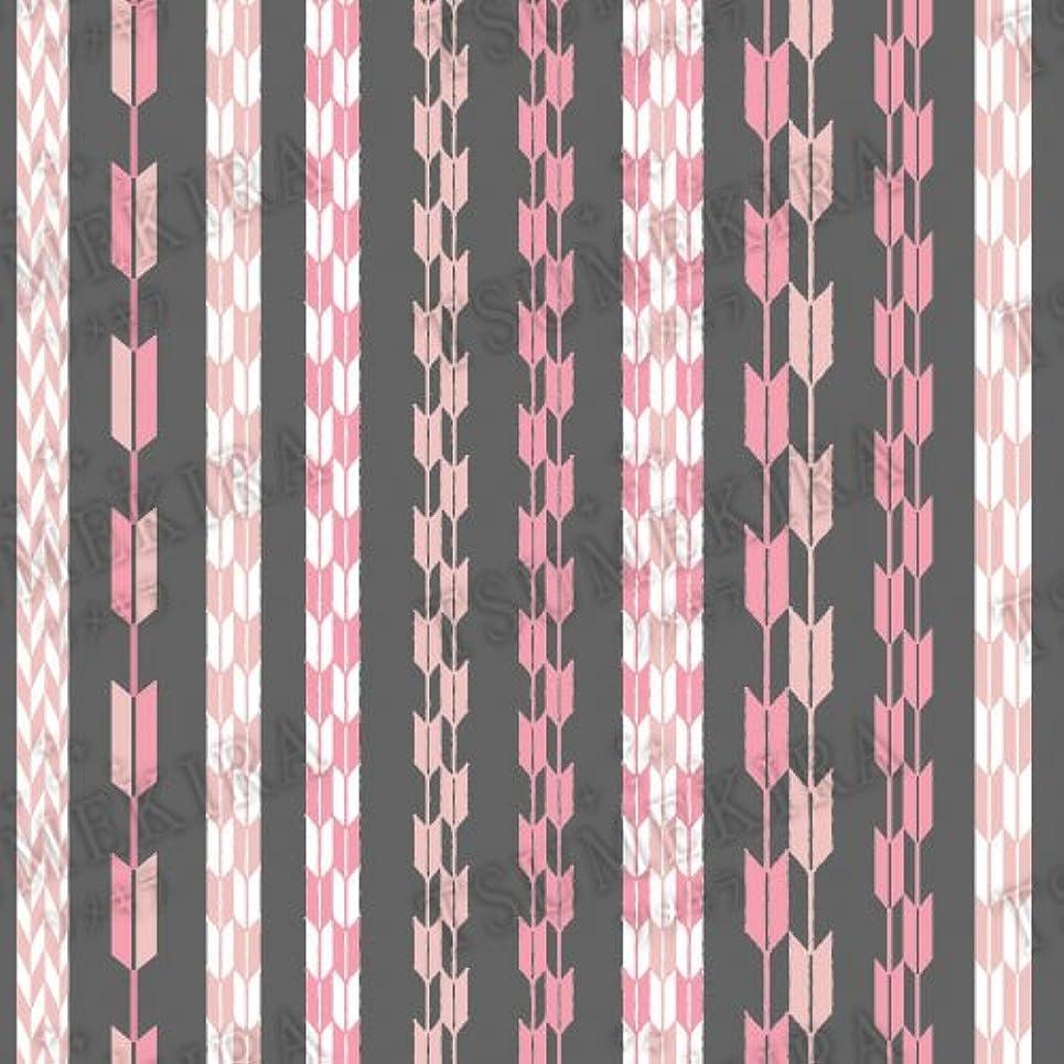 慣性穴休戦ツメキラ ネイル用シール スタンダードスタイル 矢餅 ピンク