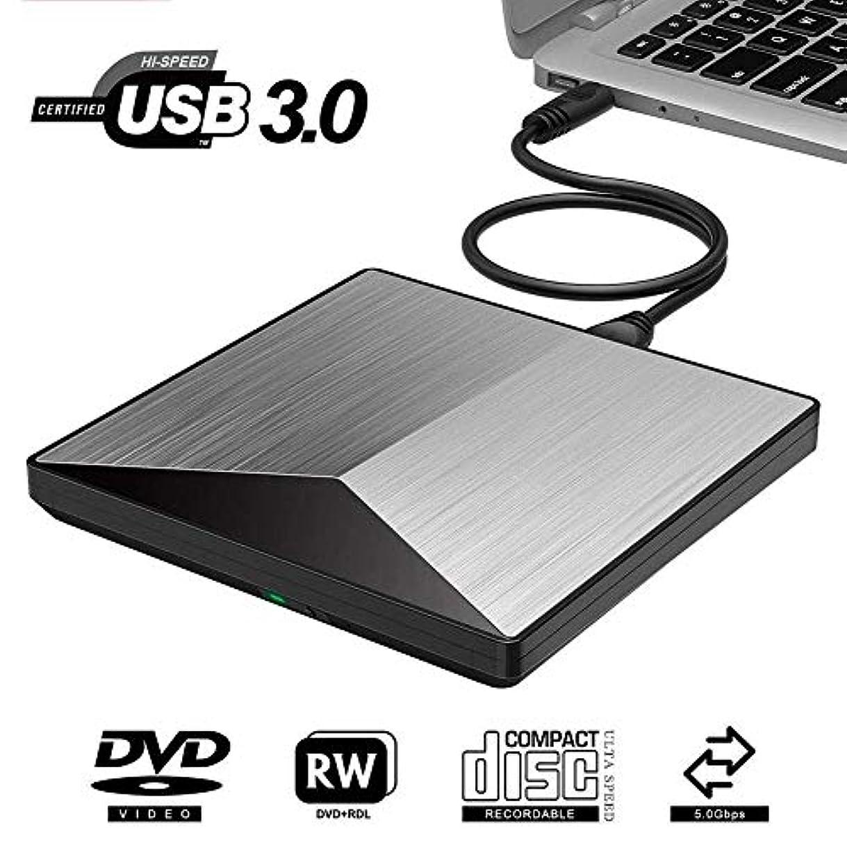 不公平肌寒い落胆したLcxliga 外付けUSB3.0 DVD RW CDライタースリムドライブバーナーリーダープレーヤーPCラップトップMACモバイルレコーダーコンピューター用