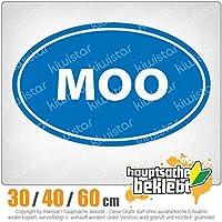 MOO - 3つのサイズで利用できます 15色 - ネオン+クロム! ステッカービニールオートバイ
