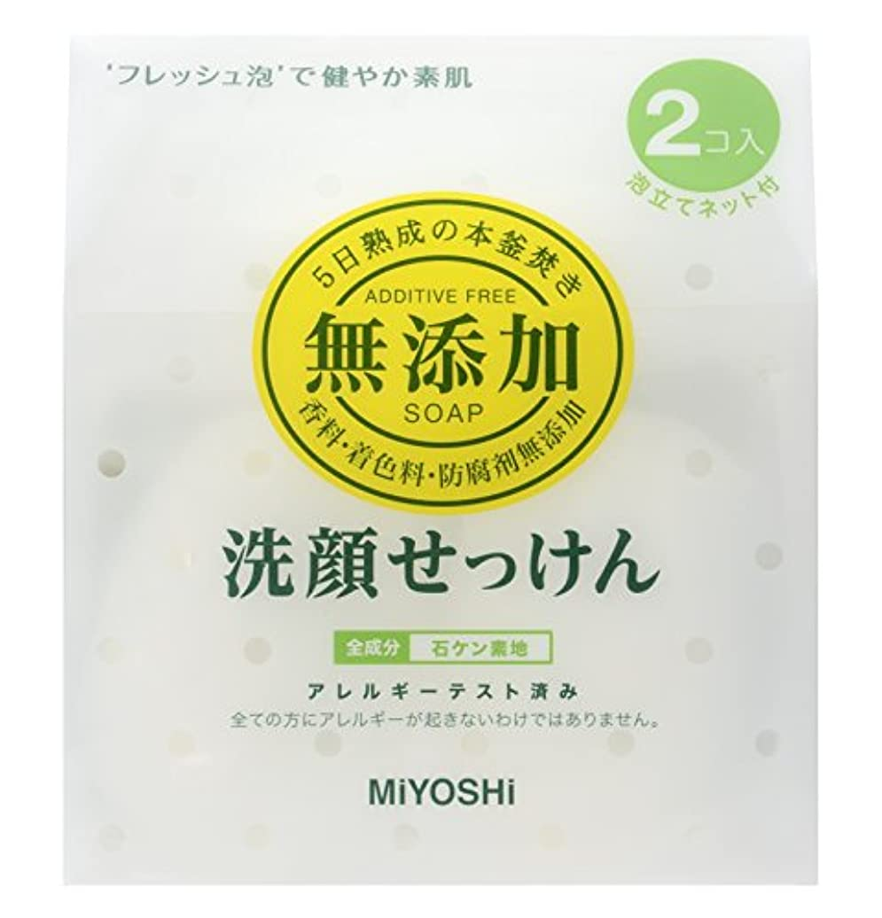 先入観植物学者子供っぽい無添加 洗顔せっけん 固型  40g×2
