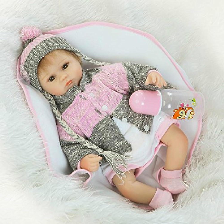 シリコンReborn新生児ソフトビニールベビー人形16インチリアルなハンドメイドで子供磁気おもちゃおしゃぶり