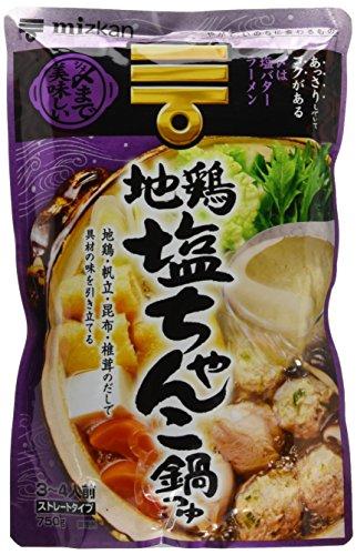 ミツカン 〆まで美味しい地鶏塩ちゃんこ鍋つゆ ストレート 750g×3個