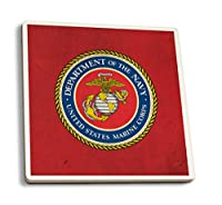 Department of the Marine Corps – Military – Insignia 4 Coaster Set LANT-49818-CT